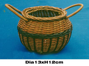 Wholesale baskets: Fern Bamboo Basket Pot Shaped