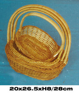 Wholesale Basketry: Fern Bamboo Basket Oval Shaped