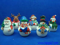 Polymer Clay Handmade Craft Christmas Figure with LED Light