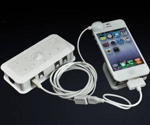 Wholesale phone charge: 4 Port Alarm Secure Controller Charging for Mobile Phone