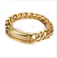 Wholesale gold bracelets: 2016 316L Stainless Steel 18k Gold Bracelet
