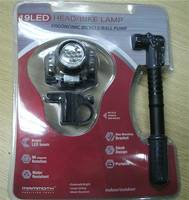 Sell 19LED bike head light and mini bike pump head bike lamp ball pump
