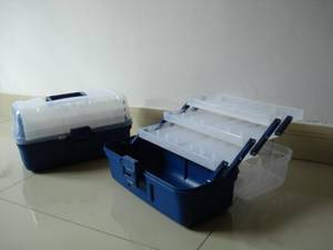 Wholesale tray: CLEAR TOP 3 Tray Tackle Box