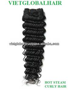 Wholesale bags collection: Hot Selling  Unprocessed Virgin Vietnam Hair Steam Curly  Weft Hair From VIetglobalhair