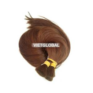 Wholesale sell: Top Selling 100 % Vietnamese Straight Brown Bulk Hair Extension From Vietglobalhair