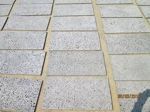 Wholesale stone: Basalt Stone with Holes, Lines High Quality