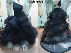 Wholesale bridal dress: Black Wedding Dress Tulle Bridal Gown