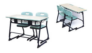 Wholesale School Furniture: Double Desk and Chairs Double School Furniture Classroom Desk and Chairs