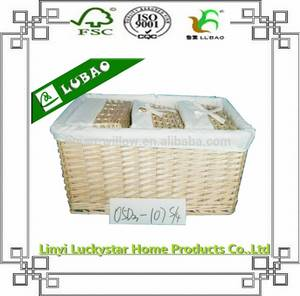 Wholesale seagrass: New Design Wicker Stackable Woven Shallow Storage Baskets