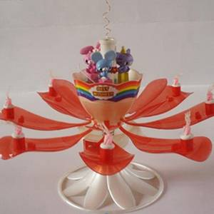 Wholesale fireworks: New Style Doll Rose Flower Rotating Fireworks Birthday Candle