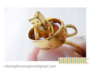 Wholesale Rings: 14k Gold Handmade Coffee Ring