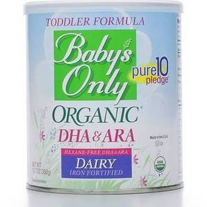 Wholesale baby powder: Baby's Only Organic Toddler Dairy Iron Fortified Formula Powder with DHA & ARA -   12.7 Oz Tub