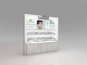 Wholesale acrylic cosmetics display rack: Customized MDF Cosmetic Wood Display Rack