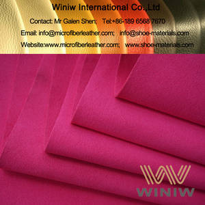 Wholesale microfiber upholstery fabric: High Quality Micro Suede Synthetic Leather for Shoe Lining