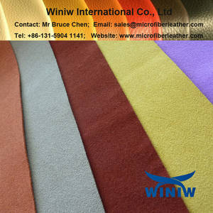Wholesale microfiber upholstery fabric: Suede Microfiber Leather