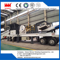 Tire Type Mobile Crushing Station, Moving Crushing Plant