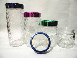 Wholesale Other Kitchen Storage & Organization: Transparent Glass Canister Storage Bottle with Plastic Lids