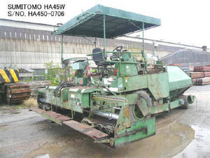Wholesale Pavers: Used SUMITOMO Model HA45W Asphalt Finisher
