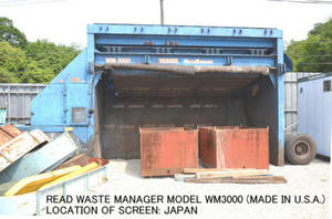 Wholesale vibrating screen: Used READ WASTE MANAGER WM3000 Hydraulic Vibrating Screen
