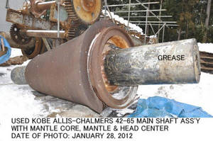 Wholesale assy: Used Main Shaft Assy with Mantle Core of Gyratory Crusher