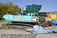 Used KOBELCO Model KMC200 Mobile Crusher with Jaw Crusher