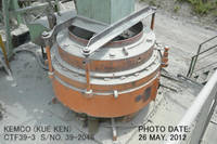Used Kemco Kue-ken Model CTF39-3 (39&quot; X 3&quot;) Cone Crusher