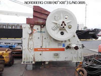 "Used ""METSO"" NORDBERG Model C100 (40"" X 30"") SINGLE TOGGLE JAW CRUSHER S/No. 3695"
