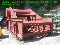Used Kinki NLH-820 2 Decks Horizontal Type Vibrating Screen