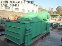 RECONDITIONED & REPAINTED KINKI NLH-412 (4x12) 3 Decks Horizontal Type Vibrating Screen S/No. S-9419