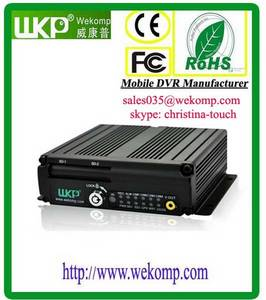Wholesale gps bus stops announcer: MDVR Multi-functional 3G WIFI GPS G-sensor with 4 Channel 64GB SD Card