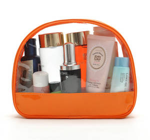 Wholesale pvc cosmetic bag: 2015 Nice Design Clear PVC Cosmetic Bag with Zipper