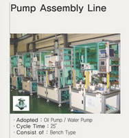 Pump Assembly Line for Oil Pump, Water Pump