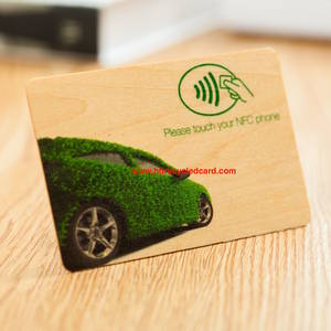 Wholesale Access Control Card: 100% Biodegradable Wood Proximity Cards