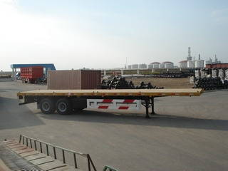 Sell 2 Axles 40ft Container Flat Bed Semi Trailer