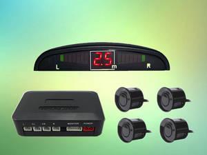 Wholesale car alarm system: Car LED RS4 Parking Sensor System Buzzer Alarm 19mm Parking Reversing Aid