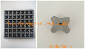 Wholesale plastic injection mould: Concrete Spacers Plastic Injection Mould for High-Speed Railway Application (MH30354042-YL)
