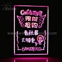 Sell led fluorescent advertising board with neon effect