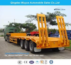 Wholesale semi trailer: 2 Axle 11m 20 Ton Fuwa Axle Low Bed Semitrailer or Lowboy Semi Truck Trailer