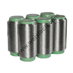 Wholesale yarn: Silver Coated Polyamide Fiber Yarn