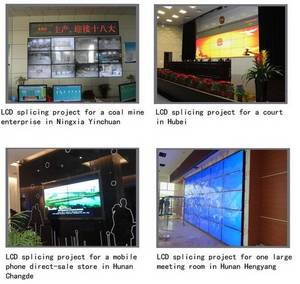 Wholesale hd lcd monitor: 47 55 Inch Super-Slim Splicing LCD Video Wall 4k HD Large LCD Screen Monitor