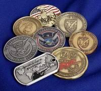 Enamel Military Metal Challenge Coin, Souvenir Coin