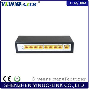 Wholesale voip product: High Quality 96w Power Adapter 8 Port 10/100Mbps Ethernet PoE Switch with POE