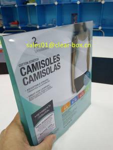 Wholesale offset printing: Offset Printing Luxury Long Underwear Plastic Display Box