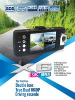 Sell HD night vision car video recorder,2.7TFT LCD dual camera car dvr X6