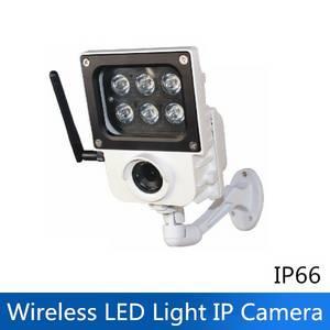 Wholesale weatherproof phone: New Outdoor Waterproof Wireless WiFi HD 1080P 6W LED Light IP Security Camera ONVIF