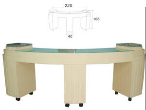 Wholesale manicure: Salon Triple Manicure Nail Table with Drawers XY-84108
