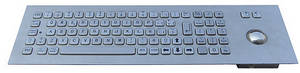 Wholesale keyboard with panel mounting: Industrial Stainless Steel Keyboard with Trackball(X-BP81F)