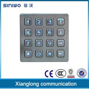Wholesale weatherproof phone: Vandal Resistence Numeric Keypad Electronic Digital Door Lock Cabinet Lock