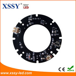 Wholesale pcs: 24pcs 14mil 2835 SMD Infrared LED PCB Board with Epistar or Sanan Chip for Surveillance Cameras