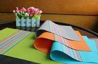 Personalized Wholesale Colorful PVC Woven Vinyl Table Placemat